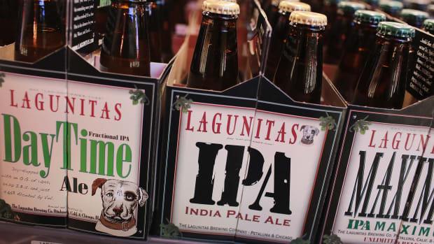 Lagunitas beer on sale in Chicago, Illinois.