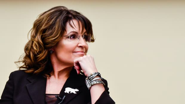 Former Governor Sarah Palin speaks at the Rayburn House Office Building in Washington, D.C., on April 14th, 2016.