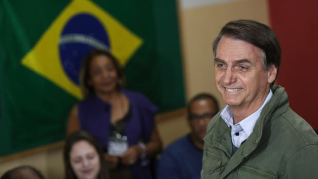 Jair Bolsonaro, president-elect of Brazil from the far-right the Social Liberal Party.