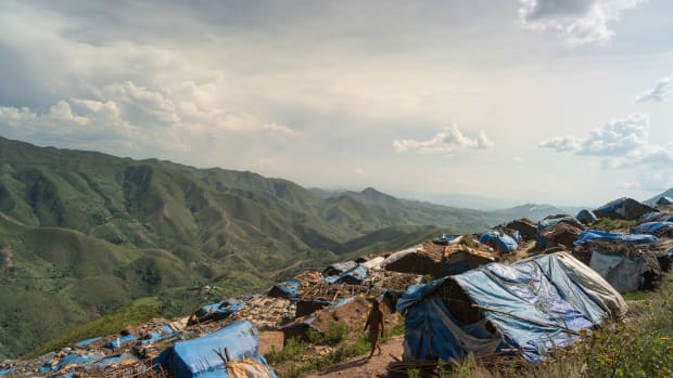Kabare Territory, Democratic Republic of the Congo: The settlements at the Kachuba mining site in South Kivu.