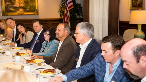 The Lincoln Club hosts a dinner for prospective members.
