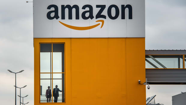 An Amazon office in Lauwin-Planque, France.