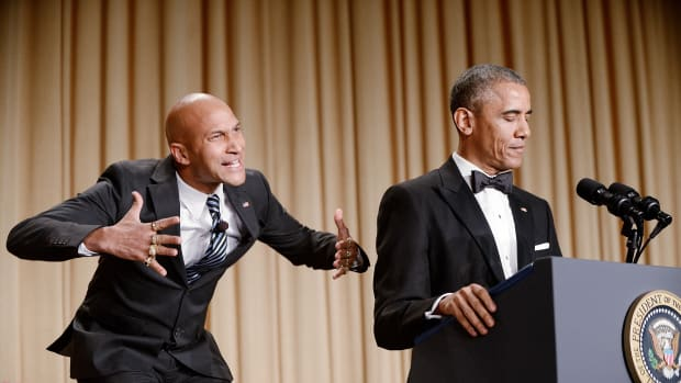 Luther Keegan-Michael Key President Barack Obama speaks at the annual White House Correspondent's Association Gala