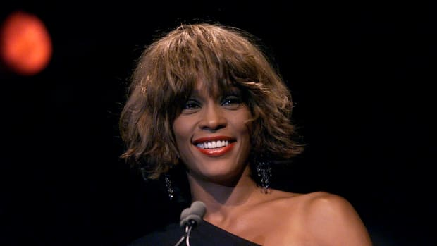 Whitney Houston at the Songwriters Hall of Fame 32nd Annual Awards in New York City on June 14th, 2001.