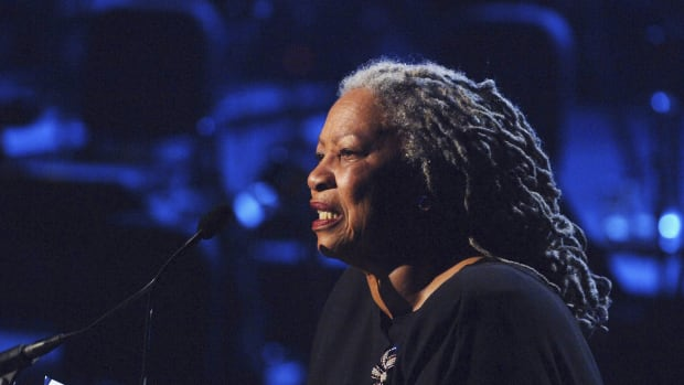 Toni Morrison performs on stage at the Lincoln Center in New York City.