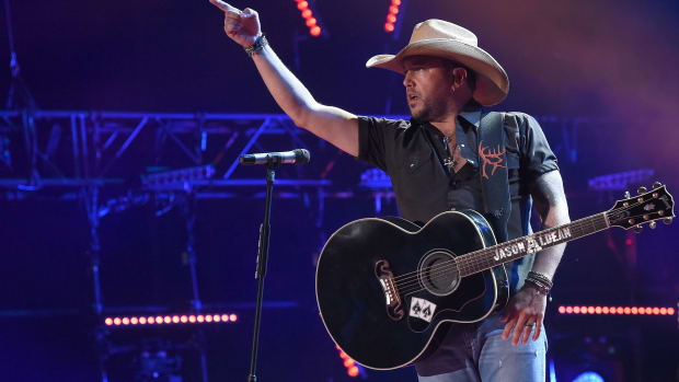 Jason Aldean performs onstage at Nissan Stadium on June 9th, 2016, in Nashville, Tennessee.