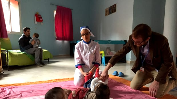 Senior editor Ted Scheinman at La Ligue Marocaine pour la Protection de l'Enfance (LMPE) in Marrakech, Morocco.