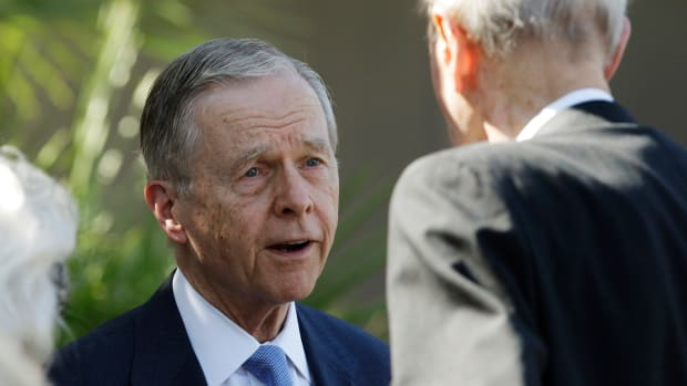 Former California Governor Pete Wilson, pictured here in 2011, in Palm Desert, California.
