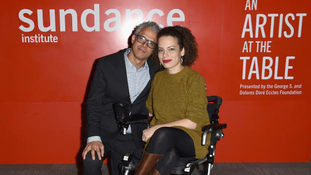 Omar Wasow and director Jennifer Brea at Sundance