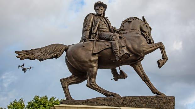 A J.E.B. Stuart monument.