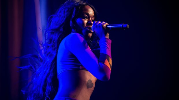 Azealia Banks performs in Byron Bay, Australia, on July 25th, 2015.