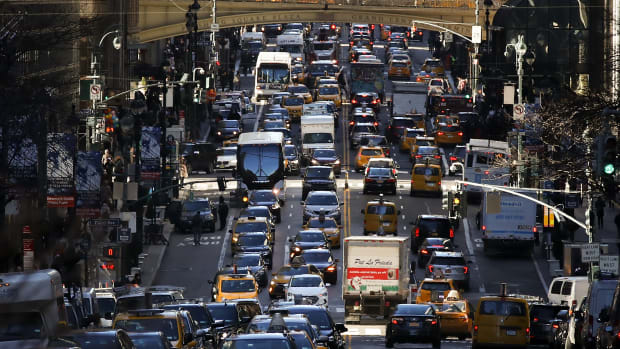 New York City traffic.