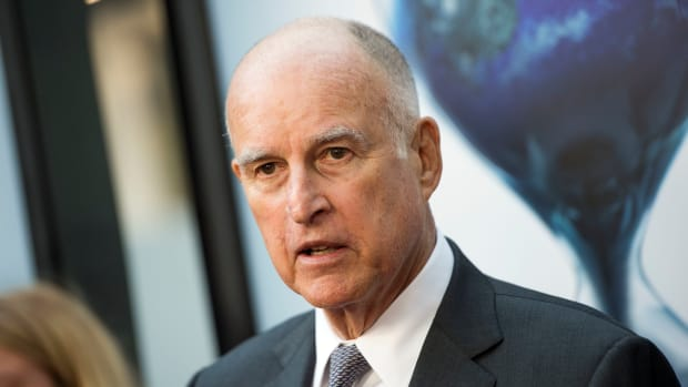 Jerry Brown in Hollywood, California.