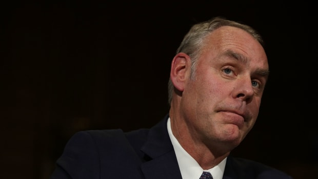 Ryan Zinke, pictured here at his confirmation hearing on January 17th, 2017, in Washington, D.C.