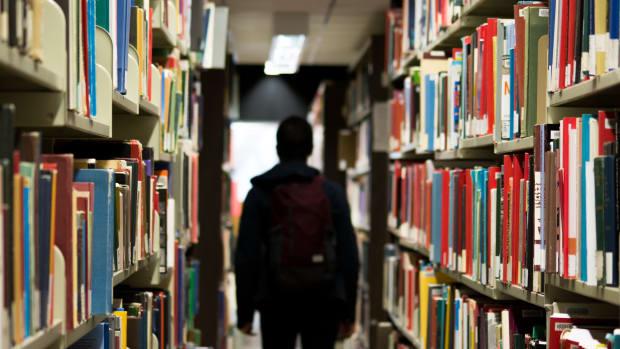 School teacher library