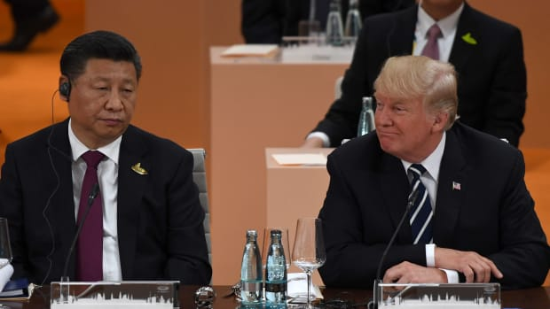 China's President Xi Jinping and U.S. President Donald Trump.