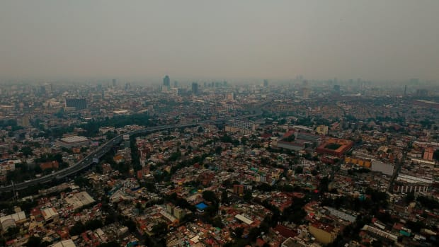 A view of air pollution in Mexico City on May 15th, 2019.
