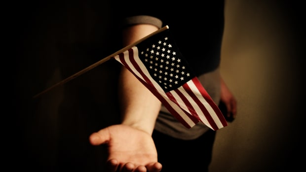 American flag trump's america chris arnade