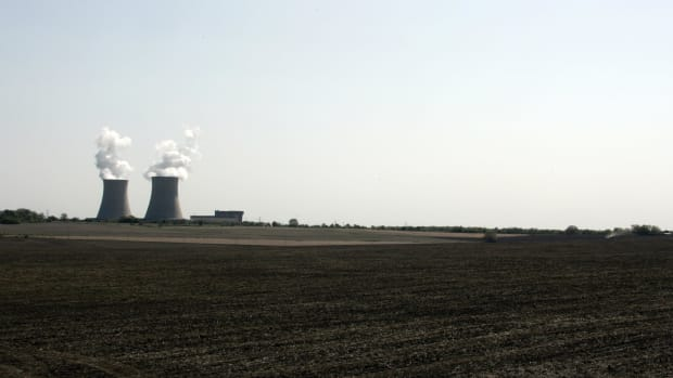 The Exelon Byron Nuclear Generating Stations running at full capacity on May 14th, 2007, in Byron, Illinois.