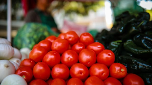 Tomatoes are seen at a market in Mexico City, Mexico, on May 9th, 2019.