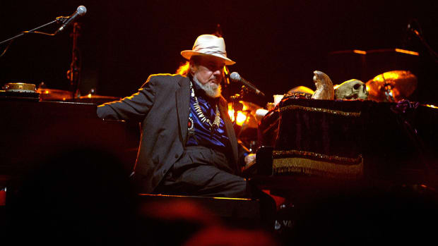 Dr. John performs a concert at the bull ring in Valencia, Spain, on June 23rd, 2004.