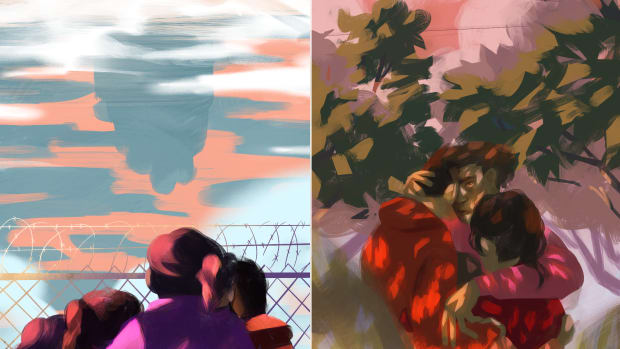 Border Illustrations Diptych