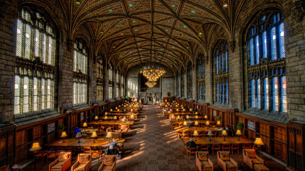 Harper Library at the University of Chicago.