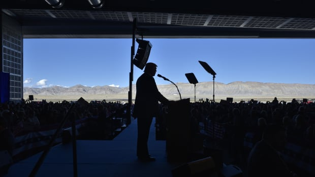 Donald Trump at a rally in Grand Junction, Colorado.