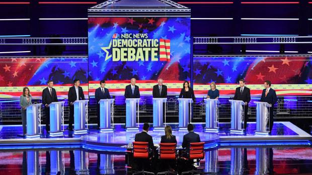 The second night of the Democratic debate in Miami, Florida, last month.