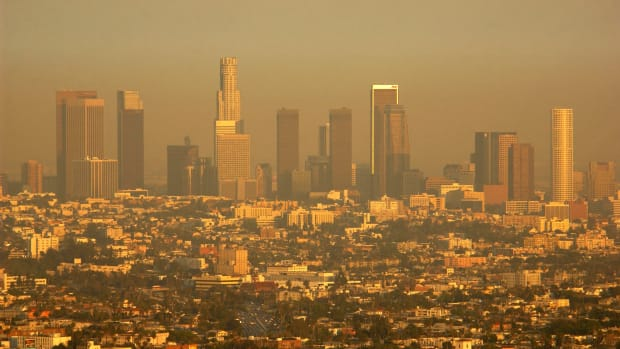 Smog in Los Angeles.