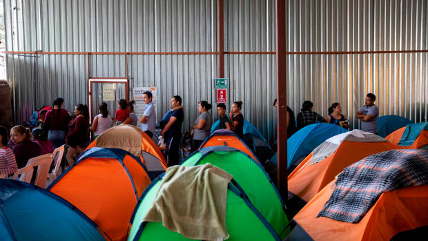 Asylum seekers in the U.S. are overflowing shelters in Mexico waiting for their claims to be processed.