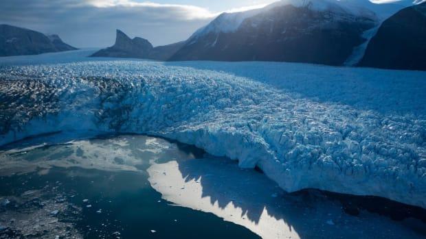 The terminus of Kangerlugssuup Sermerssua glacier in west Greenland.
