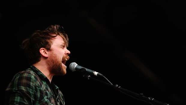 Scott Hutchison of Frightened Rabbit performs during day three of the Splendour in the Grass music festival on August 1st, 2010, in Woodford, Australia.