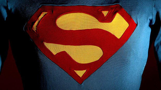 The Superman costume as worn by Christopher Reeve in Superman III is displayed at the Auction House of Bonhams and Goodman on May 23rd, 2009, in Melbourne, Australia.