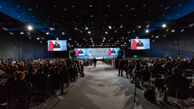 The plenary hall at COP 24 in Katowice, Poland, on December 3rd, 2018.