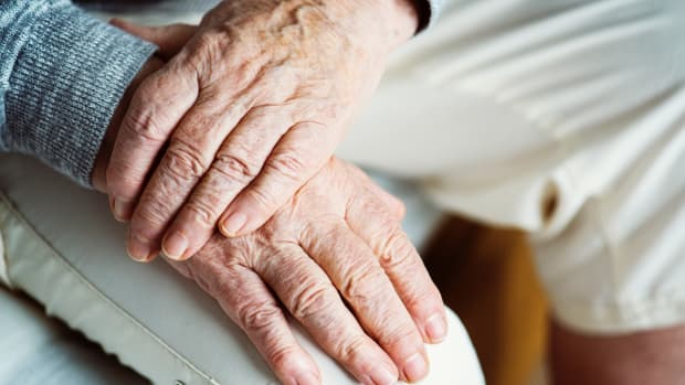 Elderly person old people hands
