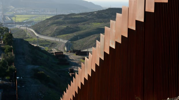 View of the U.S.–Mexico border wall on January 7th, 2019, in Tijuana, Mexico.