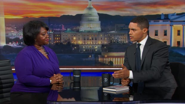 Tressie McMillan Cottom appears on Comedy Central's The Daily Show With Trevor Noah to discuss her book Lower Ed on March 8th, 2017, in New York City.