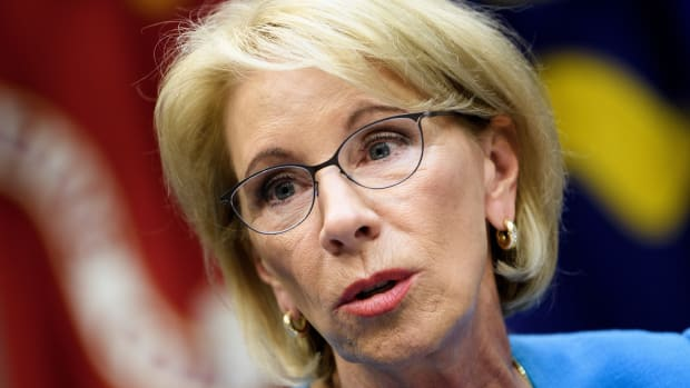 Secretary of Education Betsy DeVos, pictured here on December 18th, 2018.
