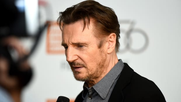 Liam Neeson attends Netflix's 'The Ballad of Buster Scruggs' NYFF Red Carpet Premiere at Alice Tully Hall on October 4th, 2018, in New York City.