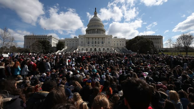 In March of 2018, one month after the Stoneman Douglas High School shooting in Parkland, Florida, students from Washington-area schools gathered during a rally at the United States Capitol to urge Congress to take action against gun violence. In early 2019, members of the 116th Congress have sponsored a relatively unprecedented number of gun-control bills.