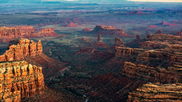 A view from the north of the Valley of the Gods, one of the areas excised from Bears Ears National Monument by President Donald Trump's December 4th, 2017, proclamation.