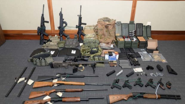 The collection of weapons and ammunition federal agents say Christopher Paul Hasson had stockpiled in his Silver Spring apartment.
