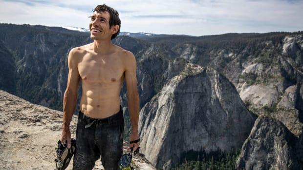 Alex Honnold atop El Cap.