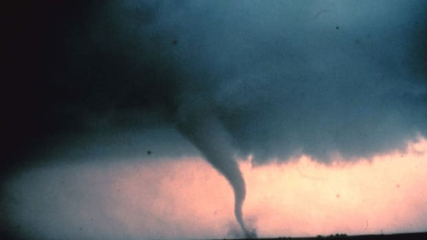 A tornado in Cordell, Oklahoma, on May 22nd, 1981.