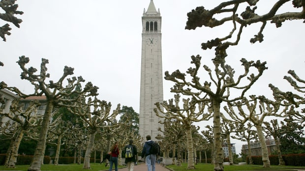 The campanile on University of California-Berkeley's campus