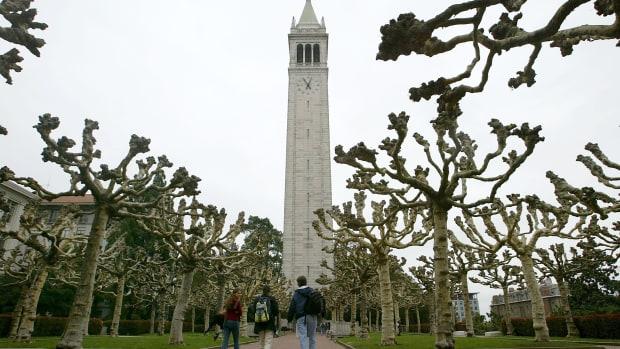The campanile on University of California-Berkeley's campus
