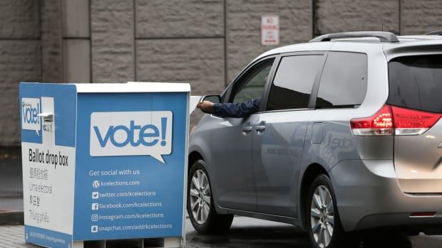 A ballot drop box in Washington.