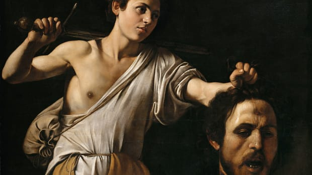 Caravaggio's David With the Head of Goliath, ca. 1607.