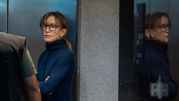 Actress Felicity Huffman inside the Edward R. Roybal Federal Building and U.S. Courthouse in Los Angeles on March 12th, 2019.